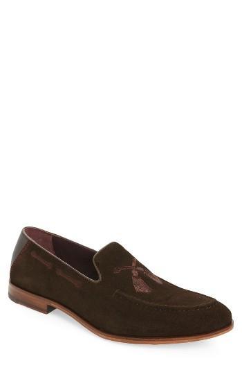 Men's Ted Baker London Cannan Tassel Loafer .5 M - Brown