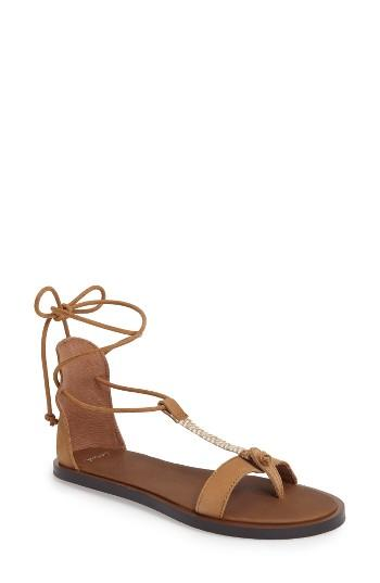 Women's Sanuk Yoga Tierra Ankle Wrap Sandal M - Brown
