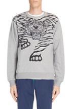 Men's Kenzo Big Tiger Print & Embroidered Sweatshirt - Grey