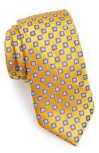 Men's John Varvatos Star Usa Geometric Silk Tie, Size - Metallic
