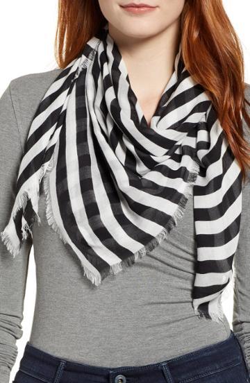 Women's Rebecca Minkoff Gerber Stripe Scarf, Size - Black