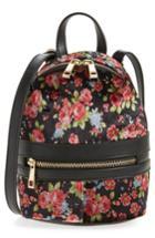Bp. Mini Floral Velvet Convertible Backpack -