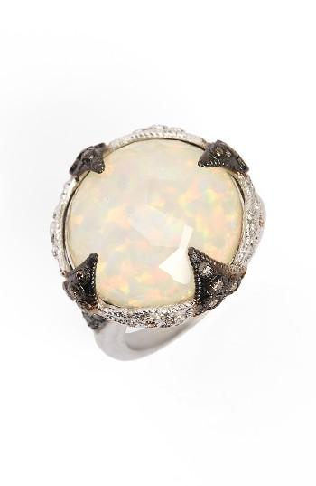 Women's Armenta New World Opal & Diamond Ring