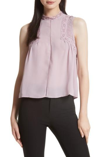 Women's Rebecca Minkoff Anne Top, Size - Purple