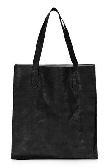 Topshop Faux Leather Shopper