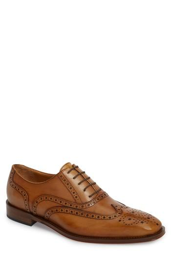 Men's John W. Nordstrom Genova Wingtip Oxford M - Brown