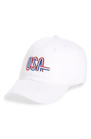 Women's Steve Madden Usa Baseball Cap - White