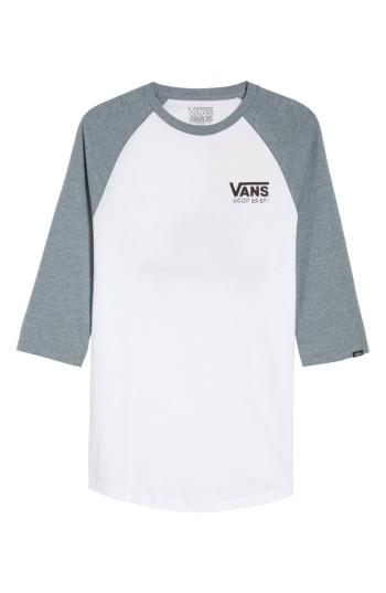 Men's Vans X Peanuts Graphic Raglan T-shirt - White