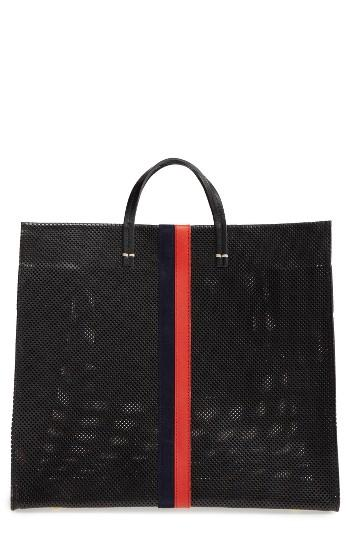 Clare V. Simple Perforated Leather Tote -