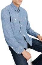 Men's Madewell Classic Button Down Shirt - Beige