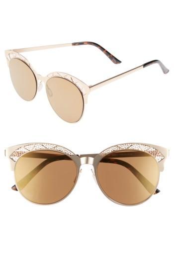 Women's Bp. 56mm Round Sunglasses - Gold/ Brown