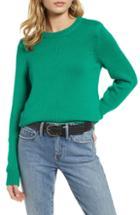 Women's Treasure & Bond Crewneck Sweater, Size - Green