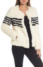 Women's Love Token Faux Fur Jacket - Ivory