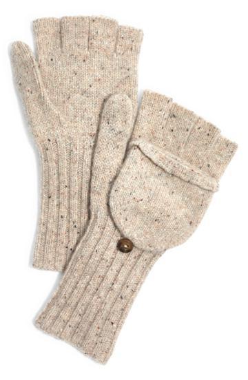 Women's Madewell Convertible Wool Mittens, Size - Grey