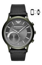 Men's Emporio Armani Renato Hybrid Leather Strap Watch, 43mm