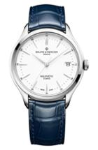 Men's Baume & Mercier Clifton Automatic Leather Strap Watch, 40mm