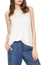 Women's Sanctuary Estee Crochet Yoke Tank - White