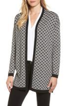 Women's Chaus Geometric Jacquard Sweater - Black