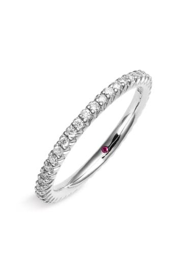 Women's Roberto Coin 'micropave' Diamond Stackable Ring