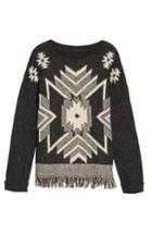 Women's Press Fringe Sweater