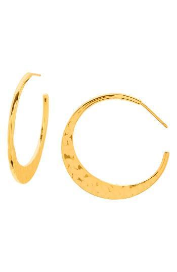 Women's Gorjana Silas Hammered Hoop Earrings