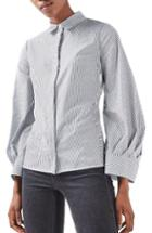 Women's Topshop Extreme Cuff Tie Back Shirt