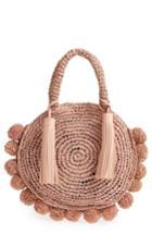 Loeffler Randall Straw Circle Tote - Pink