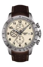 Men's Tissot V8 Automatic Chronograph Leather Strap Watch, 45mm