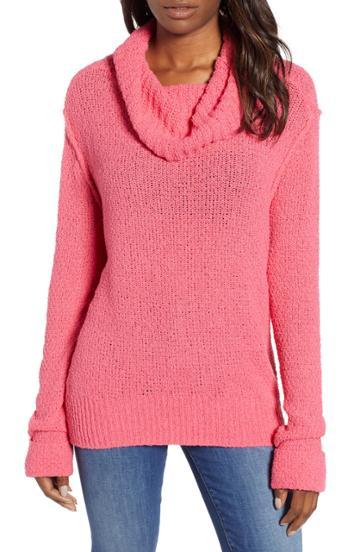 Women's Caslon Cuff Sleeve Sweater - Pink