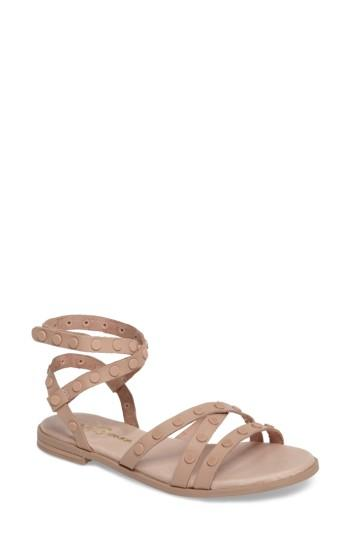 Women's Yosi Samra Madison Flat Stud Sandal M - Beige