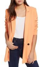 Women's Mural Oversize Blazer - Orange