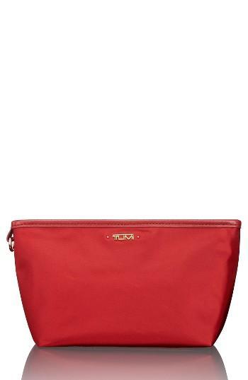 Tumi Addie Cosmetics Pouch, Size - Crimson