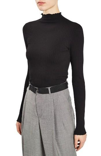 Women's Topshop Boutique Funnel Rib Sweater