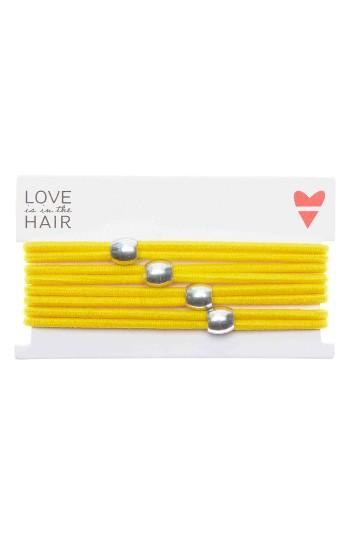 Love Is In The Hair Racer 4-pack Hair Ties, Size - Yellow