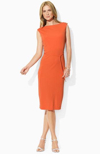 Lauren by Ralph Lauren Bateau Neck Dress