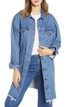 Women's Levi's Extra Long Denim Trucker Jacket - Blue
