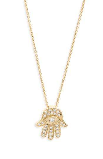 Women's Roberto Coin Diamond Hamsa Pendant Necklace