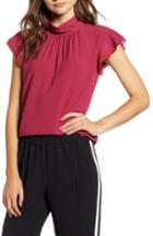 Women's Hinge Ruched Long Sleeve Top