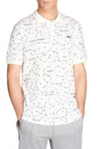 Men's Lacoste Print Pique Polo, Size - Grey