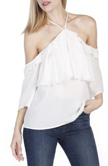 Women's Paige Luciana Off The Shoulder Silk Top - White