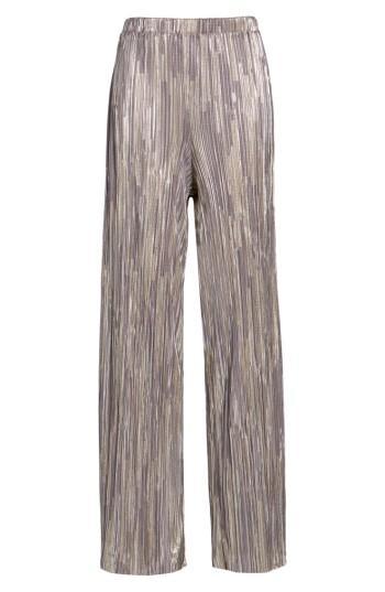 Women's Leith Metallic Pleat Pants - Metallic