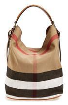Burberry Medium Ashby Check Print Bucket Bag -