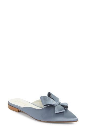 Women's Something Bleu Bow Loafer Mule .5 M - Blue
