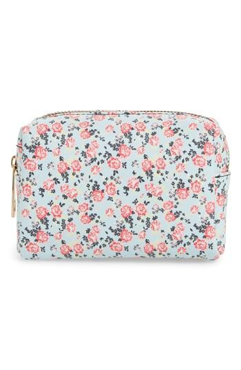 Yoki Bags Floral Cosmetics Bag, Size - Blue Multi