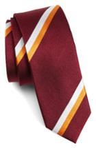 Men's The Tie Bar Ad Stripe Silk Tie, Size - Red