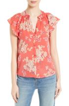 Women's Rebecca Taylor Phlox Silk Top - Red