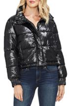 Women's Vince Camuto Stand Collar Puffer Jacket, Size - Black