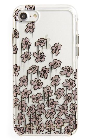 Rebecca Minkoff Glitter Flower Iphone 7 Case - Metallic