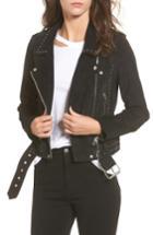 Women's Blanknyc Studded Suede Moto Jacket - Black