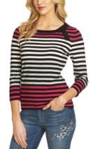 Women's Cece Colorblock Stripe Sweater - Black